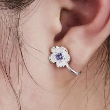 "Auskarai ant ausies ""Sidabro gėlytė"""