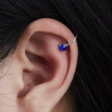 """Auskarai ant ausies """"Mėlynas akmenėlis"""""""