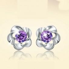 """Auskarai """"Violetinės gėlytės"""""""