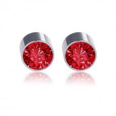 """Magnetiniai auskarai """"Sodrus raudonis"""""""