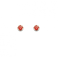 """Magnetiniai auskarai """"Raudoni kristalėliai"""""""