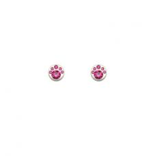 """Magnetiniai auskarai """"Rožiniai kristalėliai"""""""