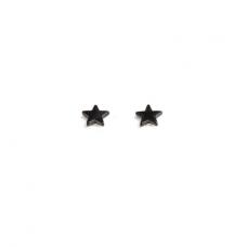 """Magnetiniai auskarai """"Juodos žvaigždutės"""""""