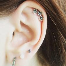 """Auskarai pirsingui helix, cartilage """"Gėlytės"""""""