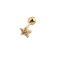 "Auskarai pirsingui į ausis (tragus, cartilage, helix) ""Aukso žvaigždutė"""