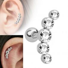 """Auskarai pirsingui į kremzlę (cartilage, helix) """"Akmenėlių lankelis"""""""