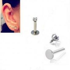 "Auskarai pirsingui į ausis (tragus, cartilage, helix) ""Mažas kristaliukas"""
