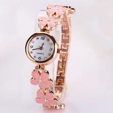 """Laikrodis """"Rožiniai žiedai"""""""