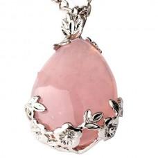 Pakabukas - papuoštas rožinis kvarcas