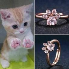 """Žiedas """"Kačiuko pėdutė"""""""